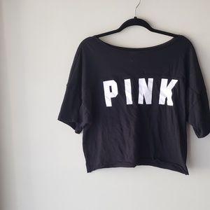 •VS PINK• Logo Crop Tee